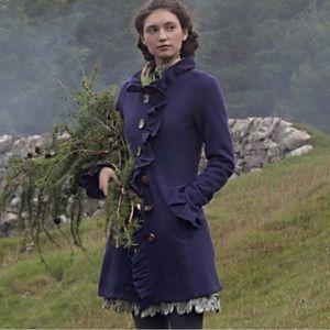 Charlie & Robin Black Wool Gumshoe Sweatercoat